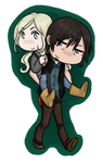 Daryl and Beth chibis