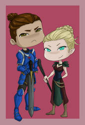 Bastien and Ysolde Chibis by Space-Moose