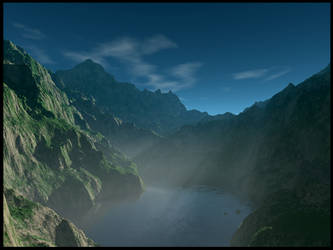 Sunlight Through Mist by Araqnid