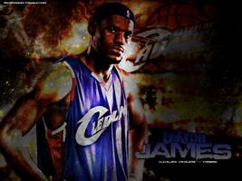 LeBron James by Araqnid