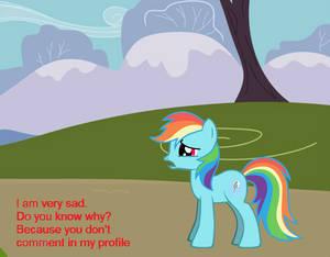 rainbow dash is sad....