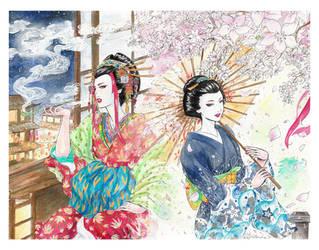 Flowers of Hanamachi by Valendra