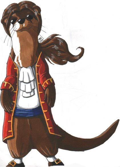 Otter Pirate by dootchan