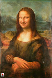 The Smiling Mona Lisa by colorARTillery