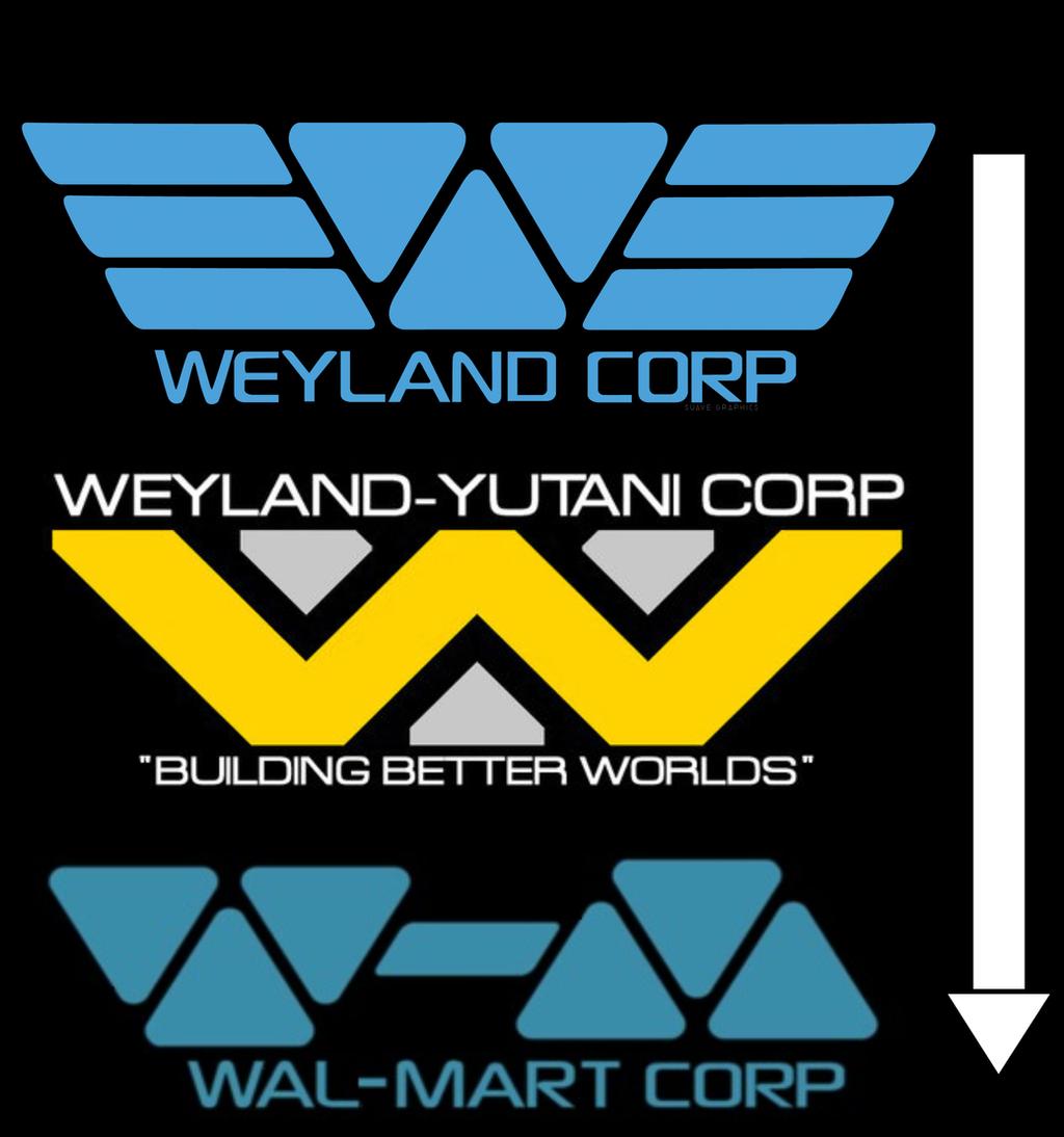 Weyland-Yutani поглащена WalMart