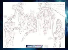 Superman,Donna Troy,SuperGirl,SuperVL,WonderWoman by VMJML1er