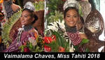 Miss France 2019,Miss Tahiti 2018,Vaimalama Chaves