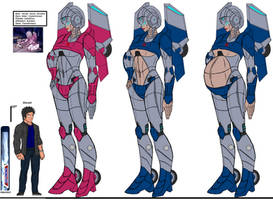 DBS,OC,Arcee,rose,bleu,Transformers,2021