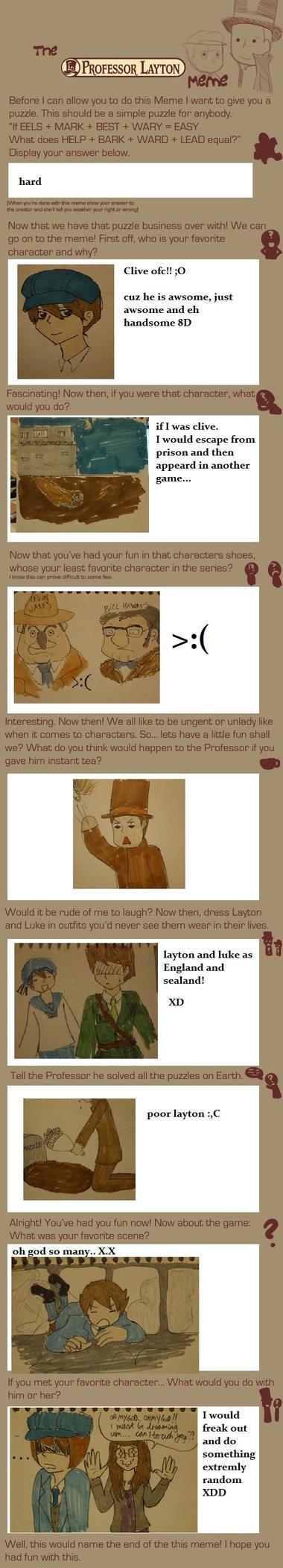 Professor Layton meme by Chibiklompen