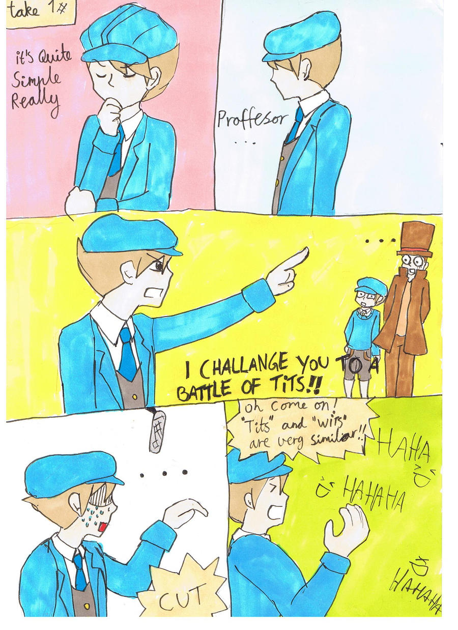 Professor layton bloopers by Chibiklompen