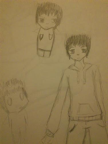 Hideaki doddle by Chibiklompen