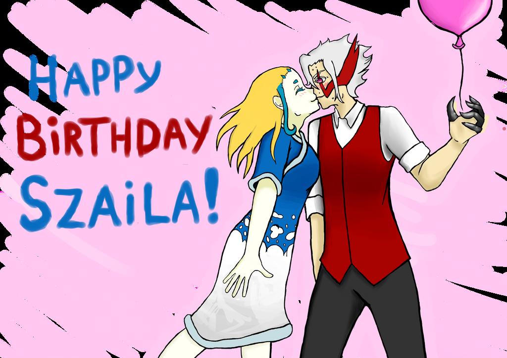 Happy birthday Szaila! :D by Chibiklompen