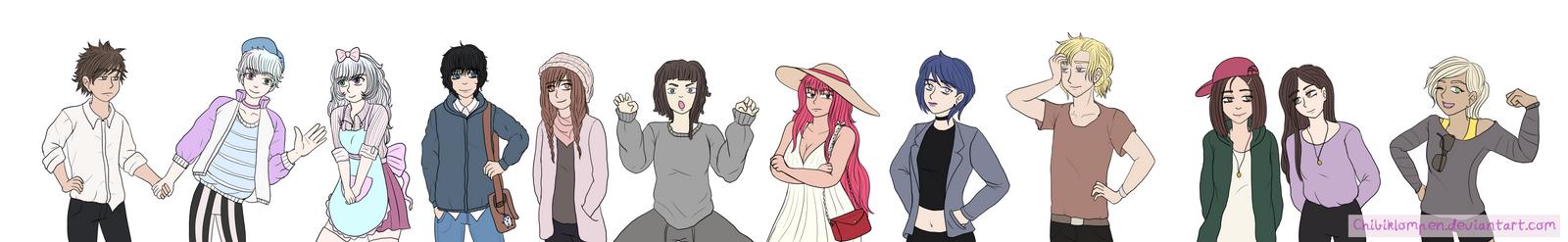 The harem gang by Chibiklompen