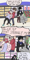 Mc goes grocery shopping meme boy and his bf by Chibiklompen