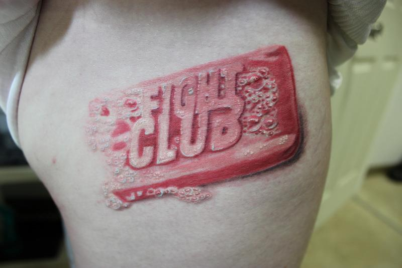 Fight club soap tattoo by quillnink on deviantart for Good soap for tattoos