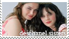 Deschanel Sisters Stamp by Bladechild