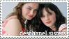 Deschanel Sisters Stamp by Bladechild
