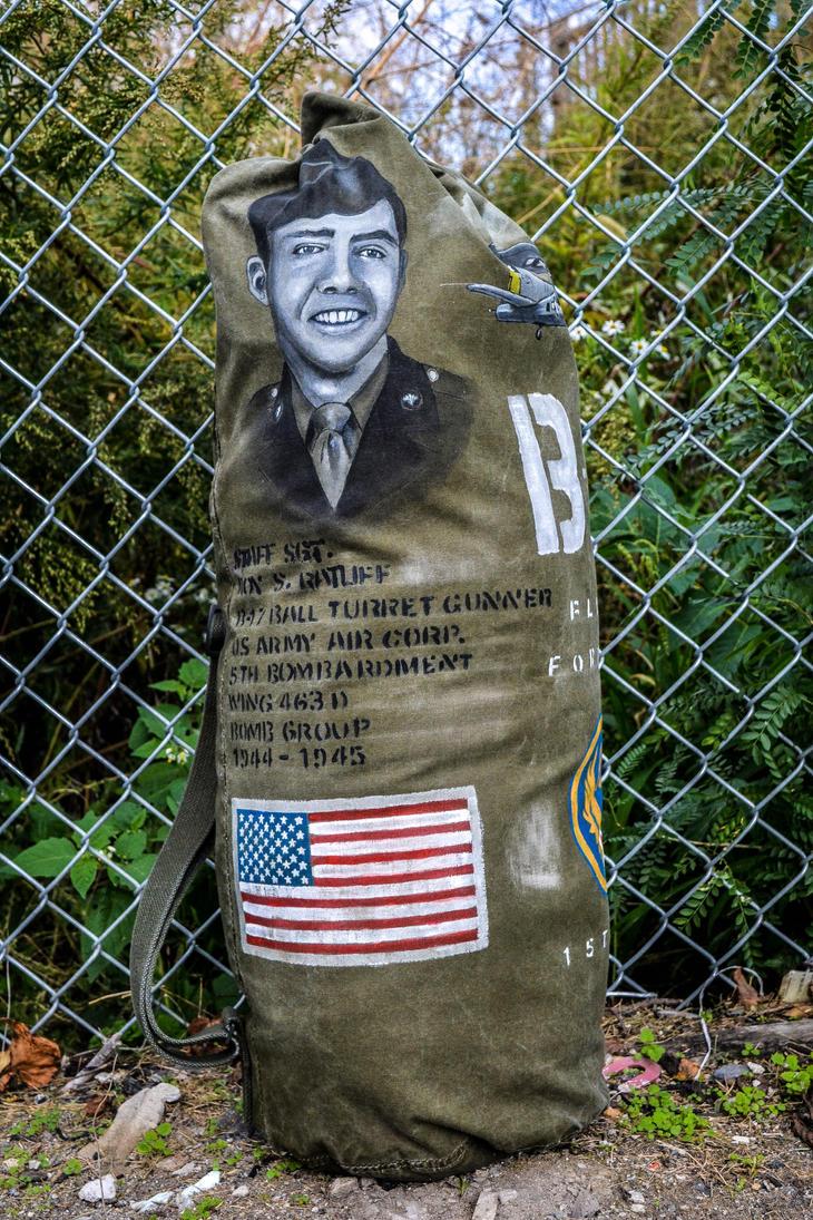 Custom Handpainted  WWII Bag by angelsd