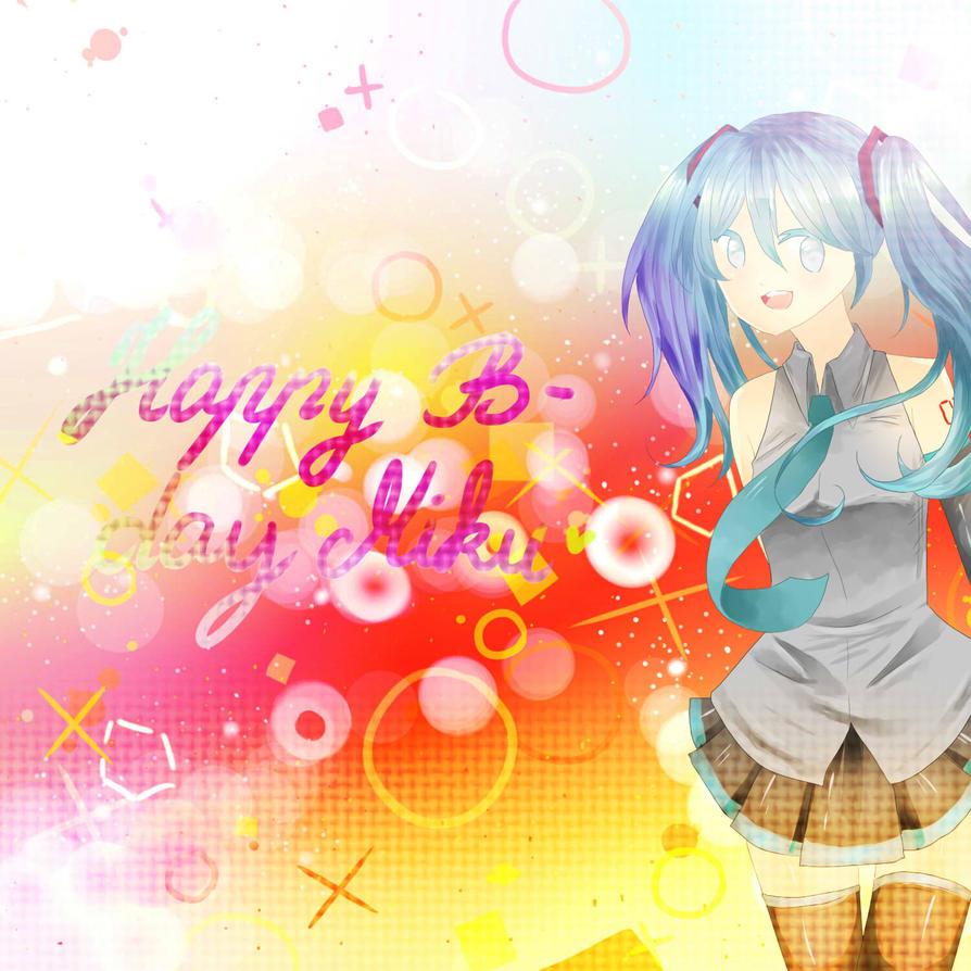 Happy birthday Miku by MyaSan