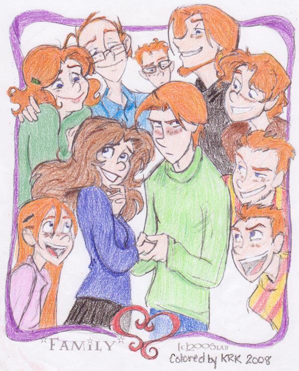 Weasley Family by elfgirlunltd on DeviantArt