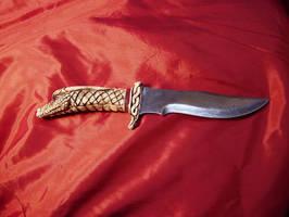 Dragon Damascus Knife by ZachariahBusch