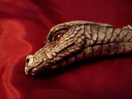 Dragon Damascus Knife view 2 by ZachariahBusch