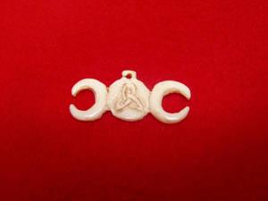 Ivory Triple Moon Pendant