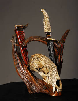 Celtic Bear Skull Dagger Set