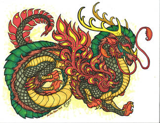 Green Fire-Dragon