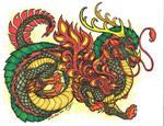 Green Fire-Dragon by Ha-HeePrime