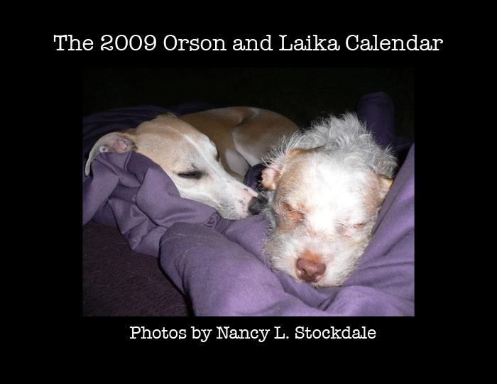 Orson + Laika Calendar 2009 by futurowoman