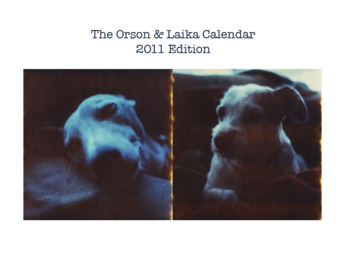 Orson and Laika 2011 Calendar by futurowoman