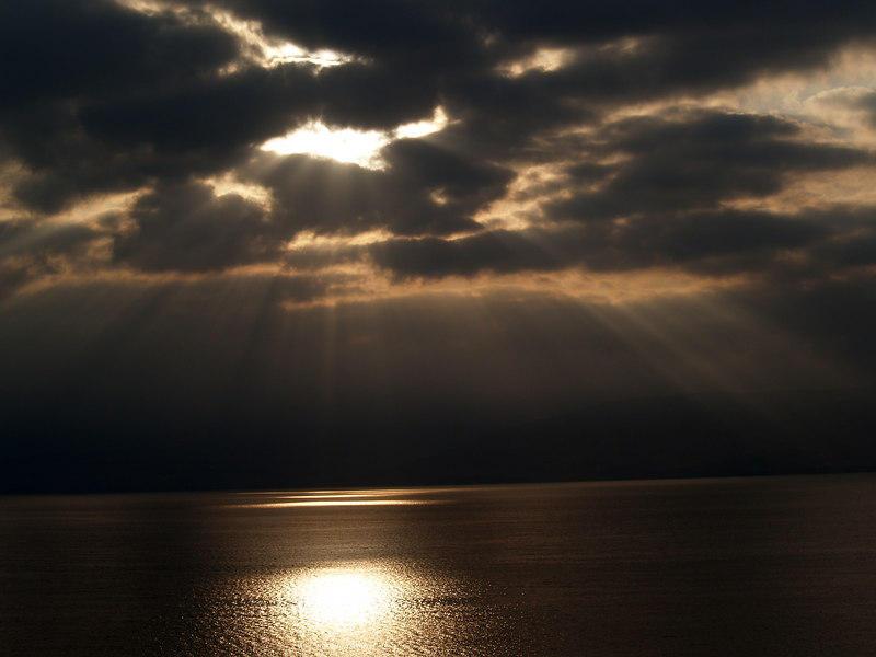 sunrise at the sea of galilee by futurowoman