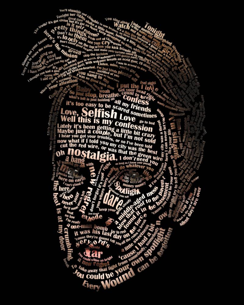Typographic Portrait Patrick Stump by Tbearmn22
