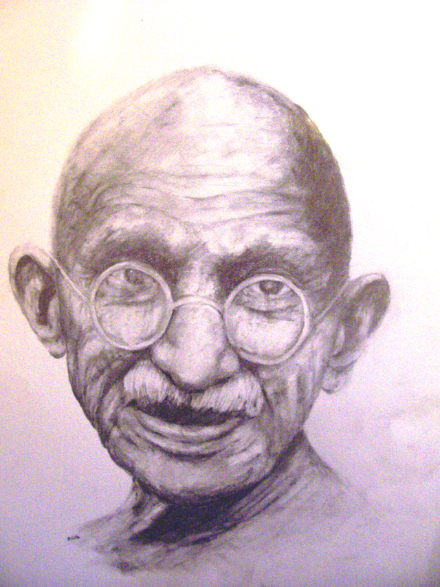 Mahatma Gandhi by RockyC