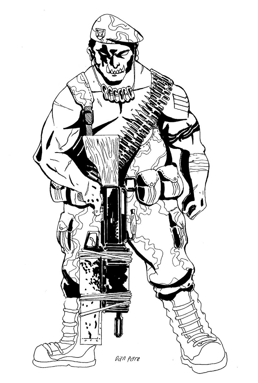 Call Of Duty Advaced Warfare - Free Colouring Pages