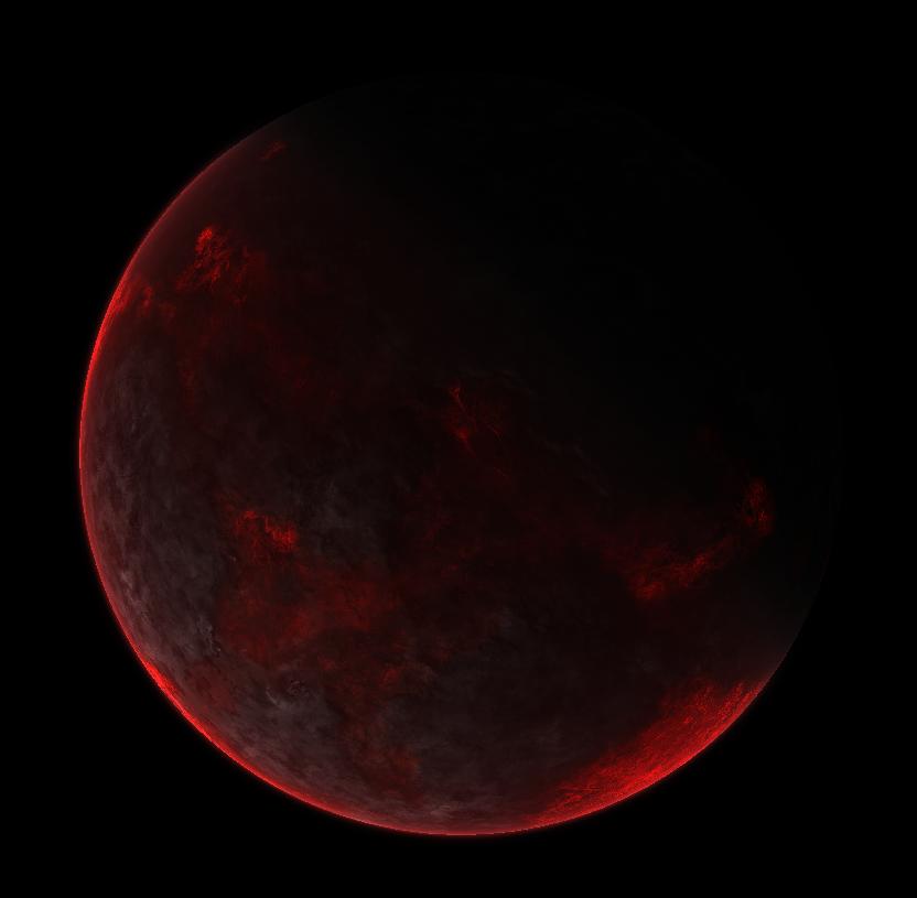 Procedural magma planet by RavenDarke