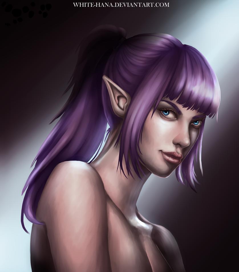 Elf girl by White-Hana