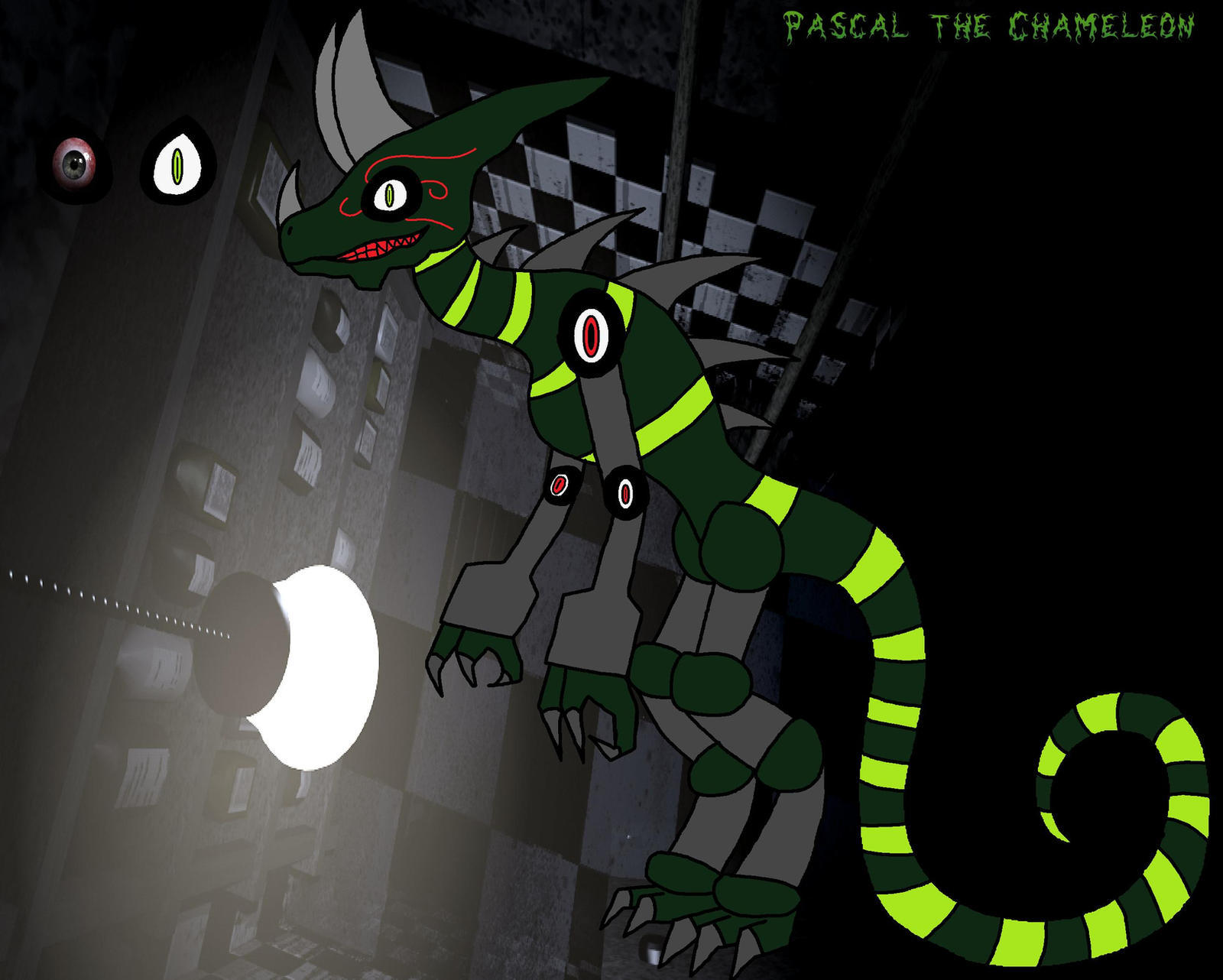 FNAF OC: Pascal the Chameleon by ScarletSpike on DeviantArt