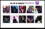 Top 10 favorite Decepticons