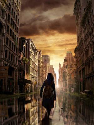 Post-apocalyptic city by arius86