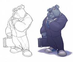 Commission_Smart Bulldog by thekidKaos