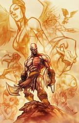 God of War . colors by thekidKaos