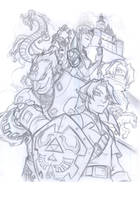 Zelda . pencils by thekidKaos