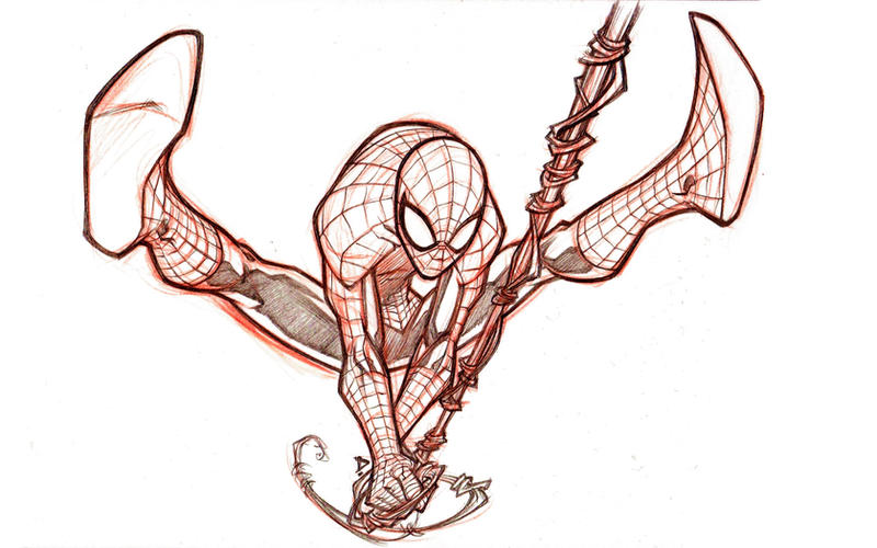Sketchbook _ Spidey 2 by thekidKaos