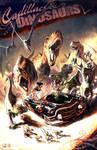 Cadillacs + Dinosaurs! by thekidKaos