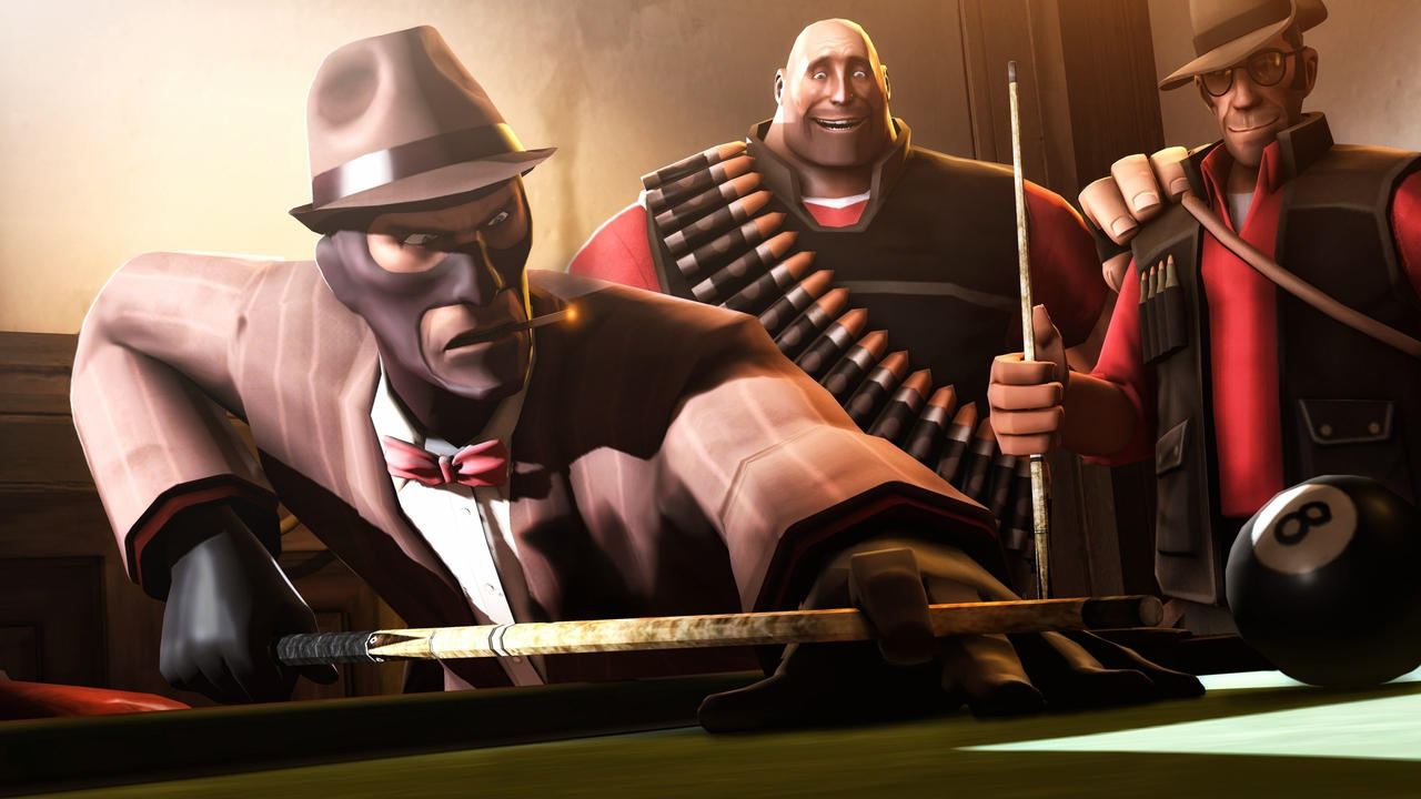 Billiard in TF2 style by P0nyStark