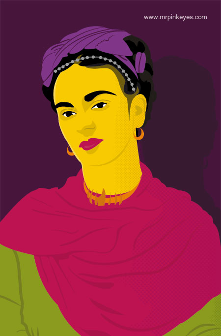 Frida Kahlo by mr-pink-eyes