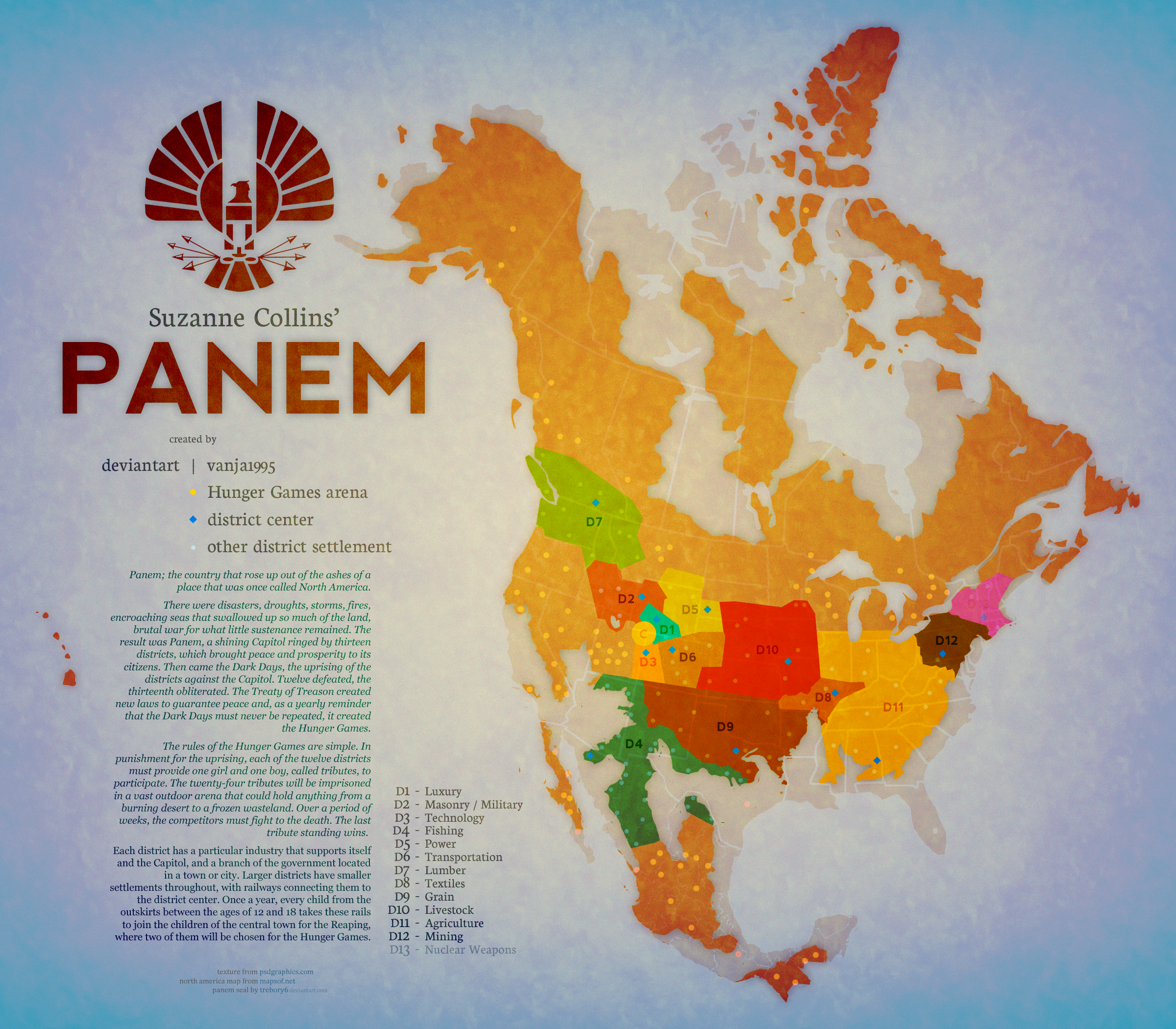 PANEM MAP by Vanja1995 on DeviantArt