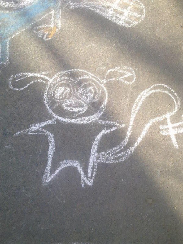 Mort in chalk by sfxdx